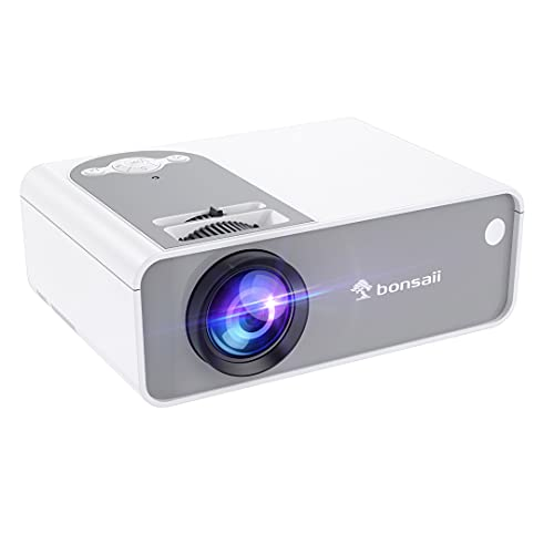 Movie Projector, Outdoor and Home Video Projector for Cinema, Supported 1080P, Portable Mini Theater Projector Built in Speakers, Compatible with TV Stick/Laptop/ HDMI/VGA/TF/AV/USB/PS4