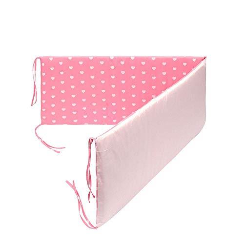 MOGOI Schutzpolster für Kinderbetten, sicher, atmungsaktiv, für Standard-Krippen, maschinenwaschbar, gepolsterte Einlage für Jungen und Mädchen (1 Stück)
