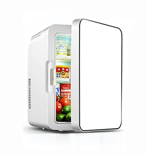 Mini Nevera 12 litros Portátil Mini Nevera Cosmeticos, Mini Refrigerador 12V/220V para Enfriar y Calentar, Nevera Pequeña y Silenciosa para Skincare, Alimentos, Bebidas standard
