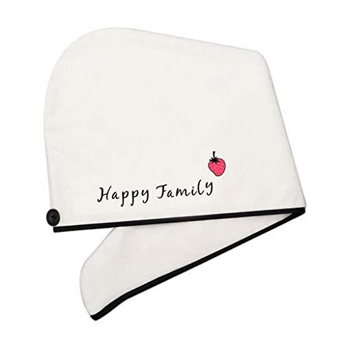 Sharplace Toalla Turbante de Microfibra Toalla de Ducha para Botones Gorro de Ducha de Duradero para Protege Tu Cabello de Daño de Secador Eléctrico - familia feliz