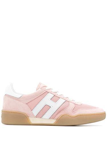 Hogan Luxury Fashion Damen HXW3570AC40KRF0QEJ Rosa Wildleder Sneakers | Frühling Sommer 20