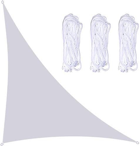 Toldo Vela de Sombra 4x4x5.7m Triangle Sun Shade Spead, 3 cuerdas incluidas, bloqueo de ángulo recto de bloque UV, Toldo vela de la sombra de la piscina, lona de tiendas flotantes, Toldo vela Toldo ve