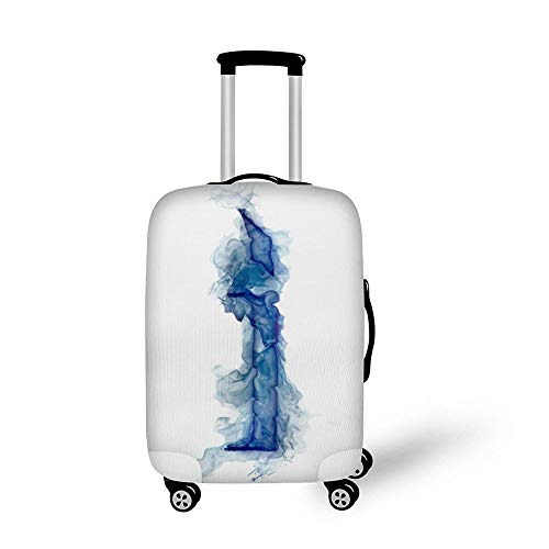 Letter Lit Smoke Gas I Fashionable Baggage Suitcase Protector Travel Luggage Cover Anti-Scratch