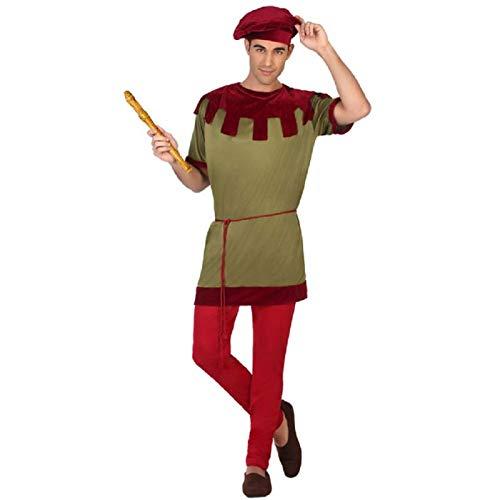 ATOSA disfraz juglar medieval hombre adulto músico M