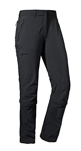 Schöffel Damen Hose Engadin1 Zip Off, Black, 50, 12640