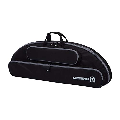 Legend Wolf Original Genesis Compound Bow Case - Thick Padding, Backpack Straps, Soft Handles for NASP Archery (Black)