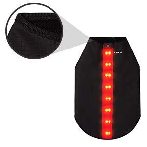 Moyen Rouge Veste de Sécurité avec Bandes Réfléchissantes LED pour Chiens Safe Gilet de Sécurité LED Blouson Chien Gilet de Haute Visibilité Veste Impermeable Chien Gilet LED Clignotant