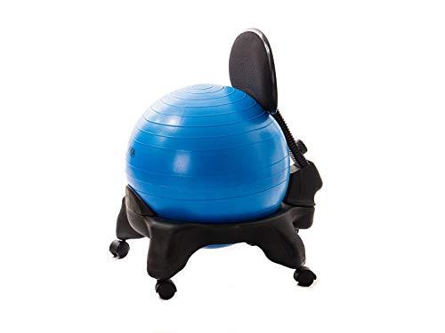 Kikka PLUS Active Chair Blu - Sedia Ergonomica con Pallone Gonfiabile e Schienale Regolabile