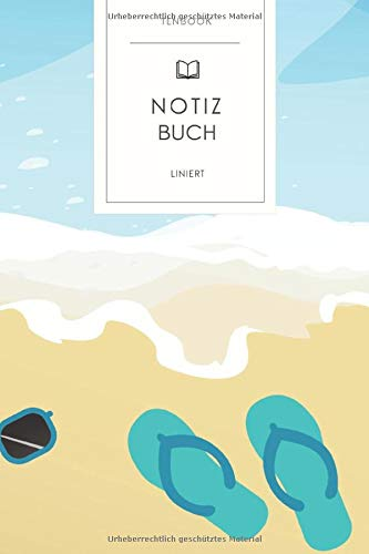 Notizbuch liniert: Tropischer Sommerurlaub. Tagebuch, Bullet Journal, Handlettering, Skizzenbuch oder Erfolgsjournal. Liniert 120 Seiten. Soft Cover 6x9 Zoll, ca. DIN A5 15x22cm.