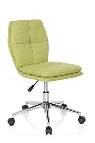 hjh OFFICE 670945 Kinder-Schreibtischstuhl Joy I Stoff Grün moderner Drehstuhl, bequem gepolstert, höhenverstellbar