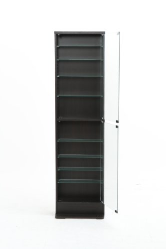 不二貿易コレクションケースフィギュアケース浅型10段高さ180cmブラックハイタイプ96071