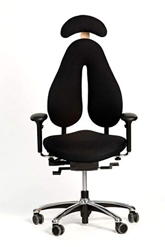 Popello M2 Bürostuhl Orthopädischer Drehstuhl für eine ergonomische Arbeitshaltung in Schwarz
