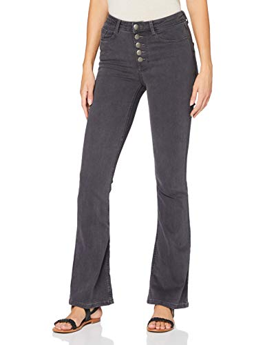 Dorothy Perkins Damen Charcoal 5 Button Jeans, Anthrazit, 10