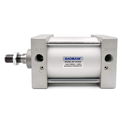 Baomain Foot flange CA-100 for foot mounting work with Pneumatic Standard Cylinder SC 100 CHLED