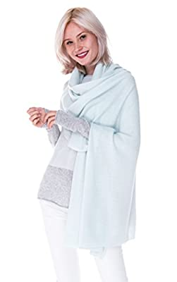 100% Pure Cashmere Wrap Shawl Extra Large Scarf - by cashmere 4 U