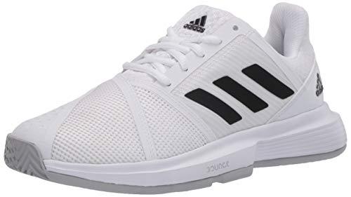 adidas Women's CourtJam Bounce Tennis Shoe, FTWR White/core Black/Matte Silver, 10.5 M US