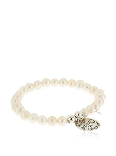 Córdoba Jewels | Pulsera en Plata de Ley 925. Diseño Perla Mano de Fátima Abuela Gracias por Tanto Amor