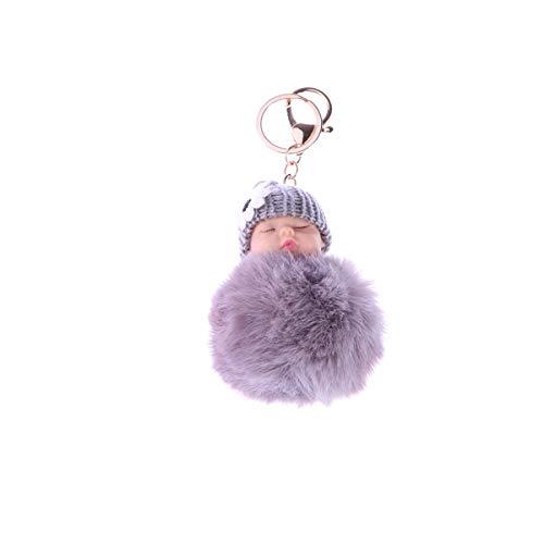 VOSAREA - Colgante para llavero o bolso de coche, diseño de muñecas, color gris claro