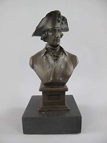 linoows Bronzefigur, Bronze Büste Friedrich der II der Große, König in Preussen
