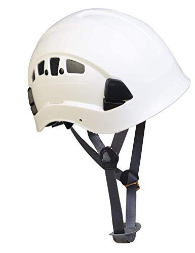 Box Deal, Troy Safety, HP55 Adjustable ABS Climbing Helmet, 6-Point Suspension, Designed for Climbing, Riding and Construction, 12 Ea White