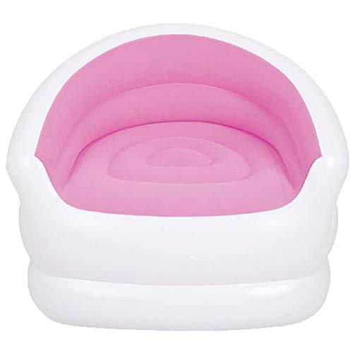 WXH Chaise Longue Gonflable, sièges de Chaise de Camping gonflables portatifs pour Le Camping, Meubles de Maison Parfaits, matériaux de Haute qualité Anti-Fuite,Pink,A