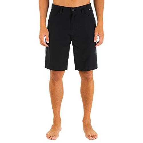 Hurley Herren Shorts M Phantom Flex 2.0 Short 20', Black, 36, 895082