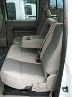 Durafit Seat Covers, Made to fit 2004-2010 F250-F550 Rear 60/40 Split Bench with Headrests and Integrated Armrest. Seat Covers in DS1 Camo Endura