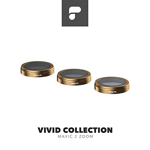 PolarPro Vivid Filter Collection for Mavic 2 Zoom - DJI Mavic 2 Filters (ND4/PL, ND8/PL, ND16/PL)