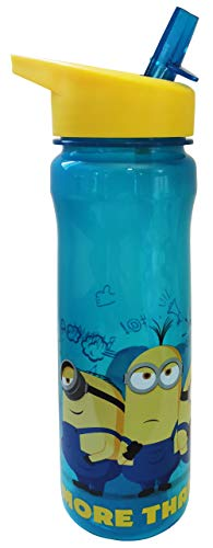Polar Gear 1325 1731 More Than a Minion Kids Drinks Bottle, polypropylene plastic, Turquoise, Yellow, 600ml
