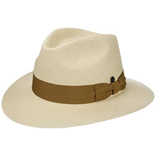 Lierys Sombrero Panamá Montecristi 11/12 Hombre - Made in Ecuador de Sol Paja con Banda Grosgrain Primavera/Verano - XL (61-62 cm) Natural-Beige