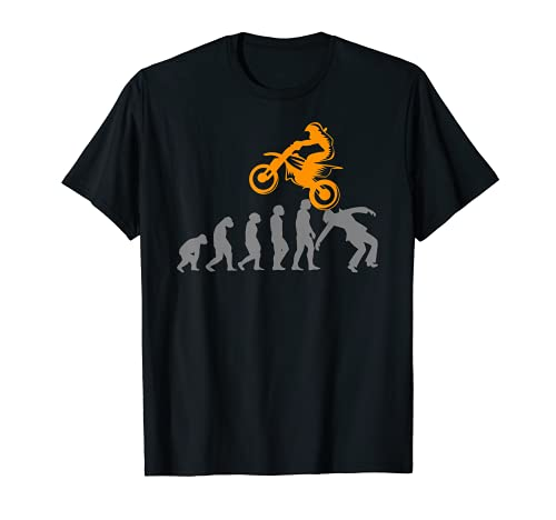 Pit-bike Motociclo Dirtbike Motocross Evoluzione Pitbike Maglietta