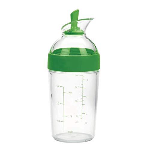 Baoblaze Wenig Salat Dressing Shaker Tasse Container Emulgator Flasche Multifunktionale Manuelle Saucen Mixer Einfach Gießen Küche Gadget - Grün
