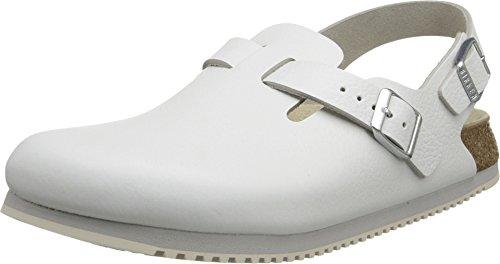 Birkenstock Professional Women's Tokyo Super Grip Leather, White, 9.5 Narrow