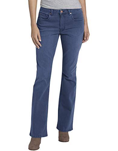 Dickies Women's Perfect Shape Denim Jean-Bootcut Stretch, Stonewashed Indigo Blue, 14RG