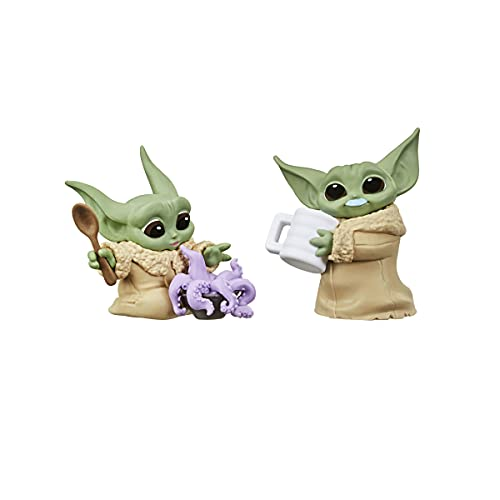 STAR WARS The Bounty Collection Series 3 The Child Figures 2.25-Inch-Scale Tentacle Soup Surprise, Blue Milk Mustache Posed Toys, 4 and Up