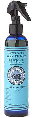 Nantucket Spider Summer Camp Bug Spray - Deet Free Bug Repellent for Kids - Natural Insect Repellent Spray with Essential Oils - Soy-Free and Vegan - No Citronella - 8 Fl Oz