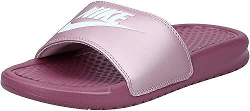 Nike Benassi, Sandalia de Diapositivas para Mujer, Shadowberry/White Plum Chalk, 38 EU