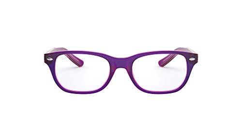 Ray-Ban 0Ry1555, Monturas de Gafas Unisex-Niños, Top Violet On Fuxia Fluo, 48