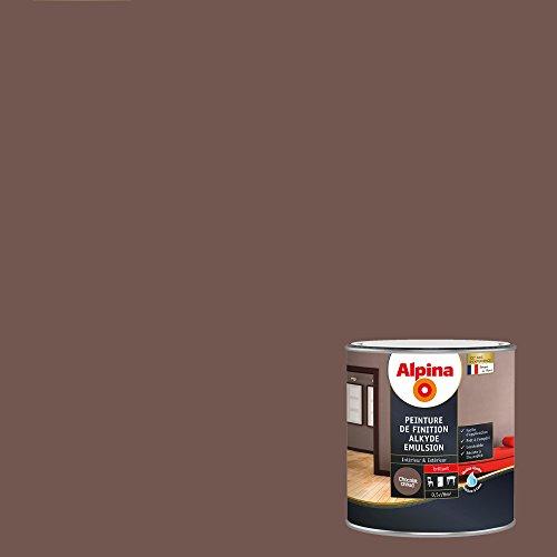 ALPINA Peinture de finition - Alkyde émulsion - Brillant Chocolat Chaud 0,5L 6m²