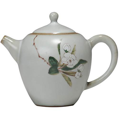 FYJK Tetera de Porcelana Kungfu Juego de té Chino Hecho a Mano de Gran Capacidad Jarra de cerámica Botella de Agua fría Viga Resistente al Calor Tetera Antigua (225 ml)