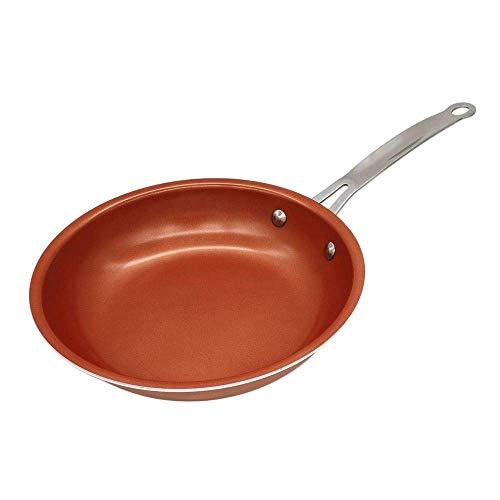 JY&WIN Sartén de Cobre Antiadherente con Revestimiento de cerámica y cocción por inducción, Apta para Horno y lavavajillas7210