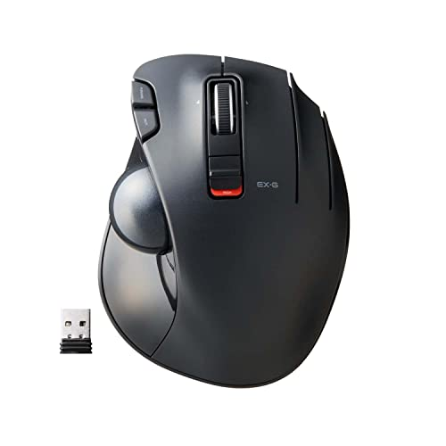 ELECOM 2.4GHz Wireless Thumb-Operated Trackball Mouse, 6-Button...