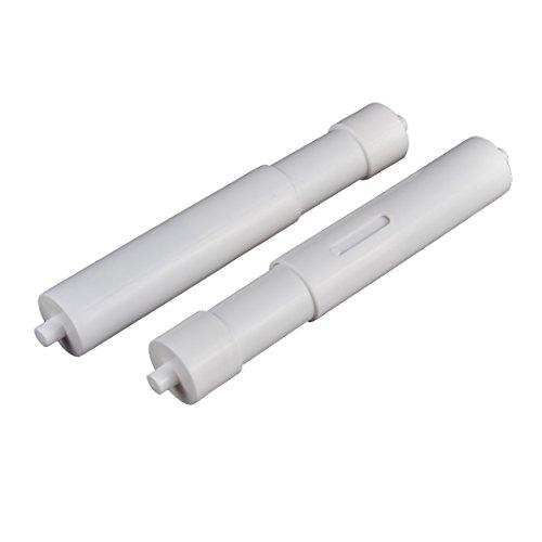 Sourcingmap® Kunststoff Hotel Badezimmer Teleskop Toilettenpapier Ersatz Roller 2 de