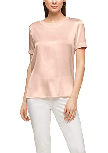 s.Oliver BLACK LABEL Damen Blusenshirt mit Seidenfront Light pink 46