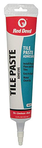 Red Devil 0497 Tile Paste Adhesive, 5.5 oz, White, 5 Fl Oz