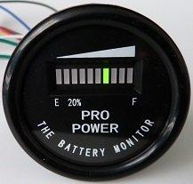 ProPower PRO12-48M 48 Volt Battery Indicator, Meter for EZGO, Yamaha, Club Car - Golf Cart