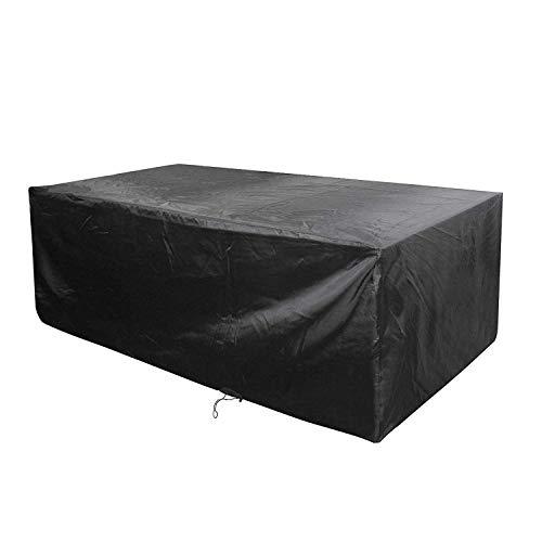 Anderlay Housse de Protection Bâche Housse table de Jardin Imperméable Anti-poussière Antisolaire En Polyester Oxford Pour des Meubles de Jardin Noir 213x132x74CM