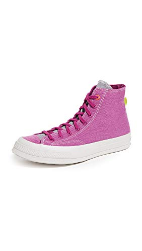 Converse Men's Chuck 70 Renew High Top Sneakers, Cactus Flower/Lemon Venom/Whit, Pink, 8.5 Medium US