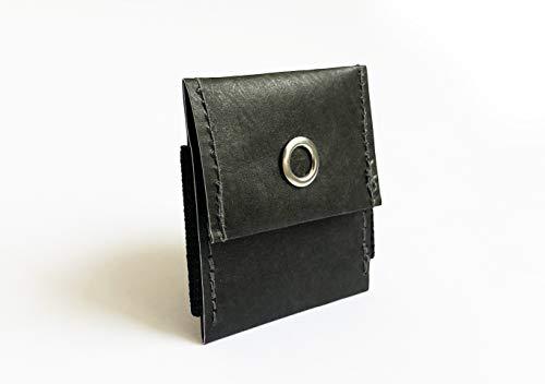 Just Black Dogwallet |Tasche für Hundesteuermarke für Halsband oder Geschirr |vegan + fair