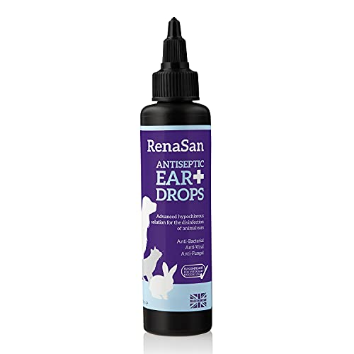 RenaSan Antiseptic Ear Drops 100ml - For Dogs, Cats and All Domestic and Farm Animals